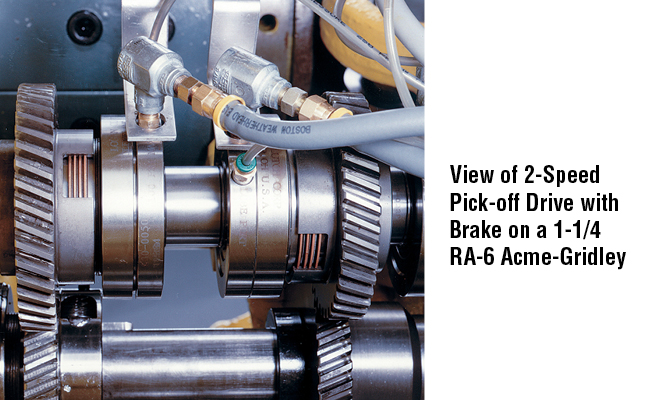 View of 2-Speed Pick-off Drive with Brake on a 1-1/4 RA-6 Acme-Gridley