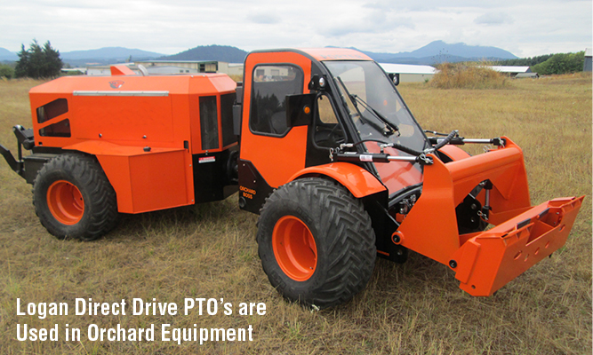 Logan Direct Drive PTO's are Used in Orchard Equipment