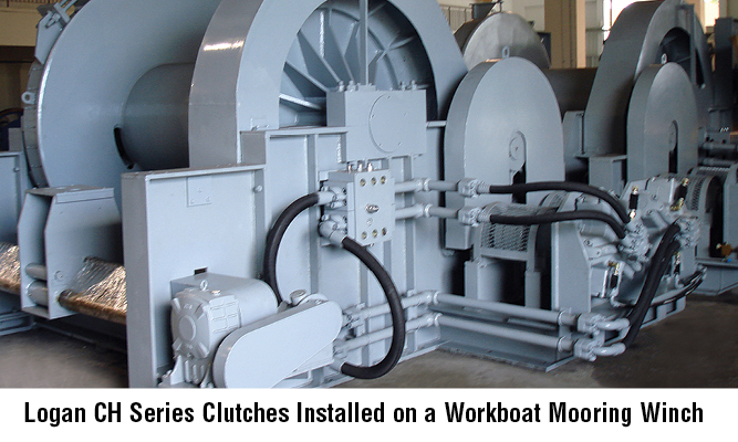 Logan CH Series Clutches Installed on a Workboat Mooring Winch