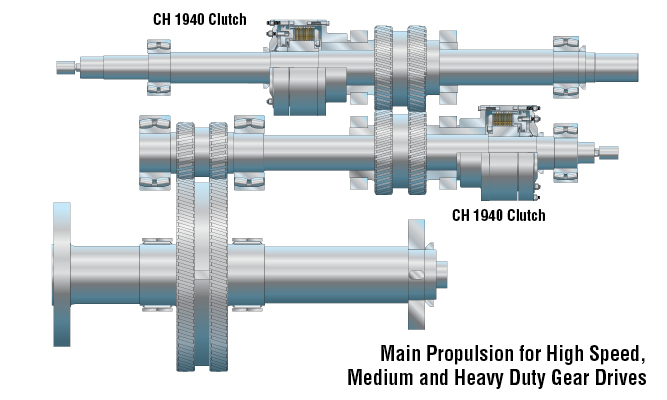 Main Propulsion for High Speed, Medium and Heavy Duty Gear Drives
