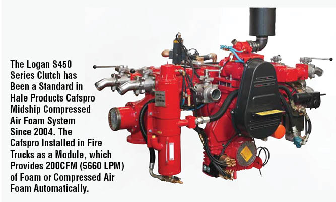 The Logan S450 Series Clutch has Been a Standard in Hale Products Cafspro Midship Compressed Air Foam System Since 2004. The Cafspro Installed in Fire Trucks as a Module, which Provides 200CFM