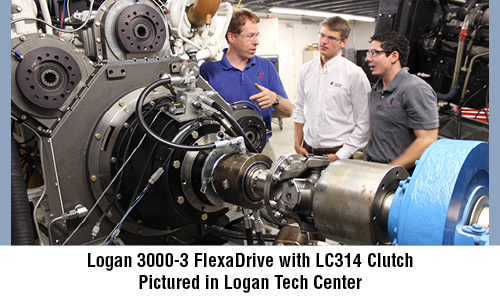 Logan 3000-3 FlexaDrive with LC314 Clutch  Pictured in Logan Tech Center