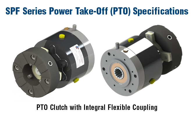 PTO Clutch with Integral Flexible Coupling
