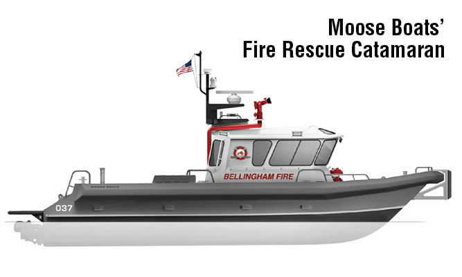 Moose Boats' Fire Rescue Catamaran