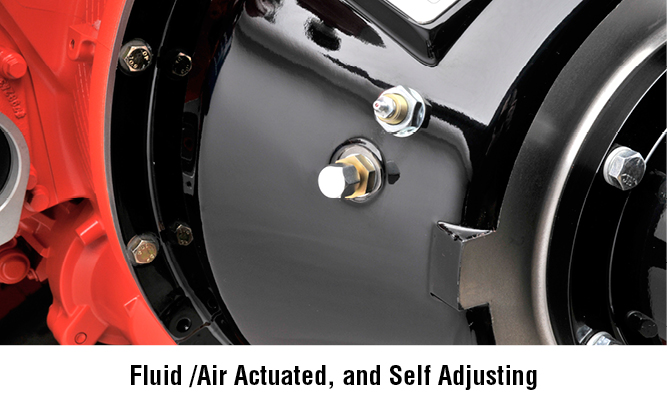 Fluid /Air Actuated, and Self Adjusting
