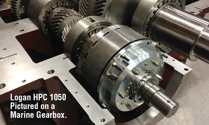 Logan HPC 1050 pictured on a marine gearbox.