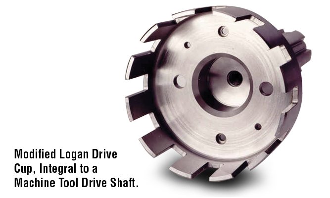 Modified Logan Drive Cup, Integral to a Machine Tool Drive Shaft.