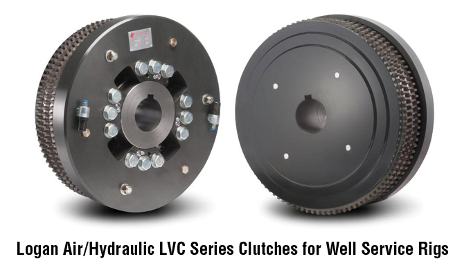 Logan Air/Hydraulic LVC Series Clutches for Well Service Rigs