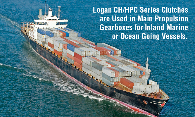 Logan CH/HPC Series Clutches are Used in Main Propulsion Gearboxes for Inland Marine  or Ocean Going Vessels.