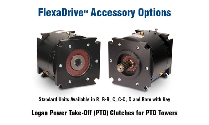 FlexaDrive Accessories Options. Logan Power Take-Off (PTO) Clutches for PTO Towers