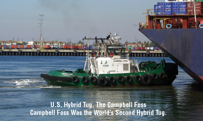 U.S. Hybrid Tug, The Campbell Foss Campbell Foss Was the World's Second Hybrid Tug.