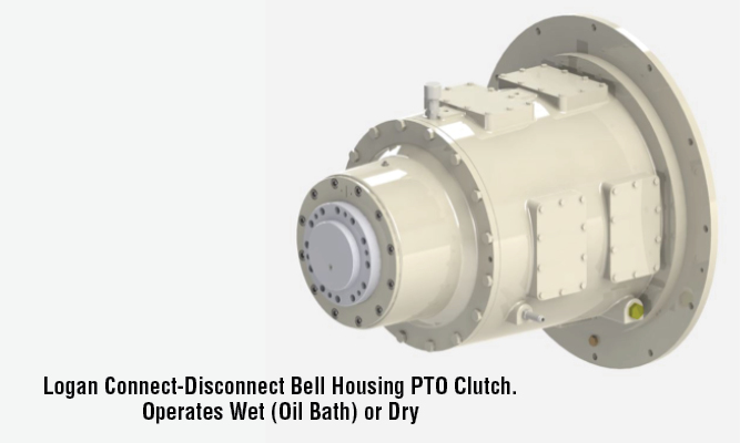 Logan Connect-Disconnect Bell Housing PTO Clutch. Operates Wet (Oil Bath) or Dry