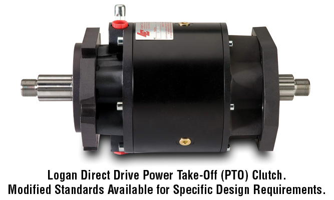 Logan Direct Drive Power Take-Off (PTO) Clutch. Modified Standards Available for Specific Design Requirements.