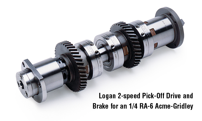 Logan 2-speed Pick-Off Drive and Brake for an 1/4 RA-6 Acme-Gridley