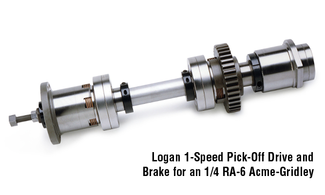 Logan 1-speed Pick-Off Drive and Brake for an 1/4 RA-6 Acme-Gridley