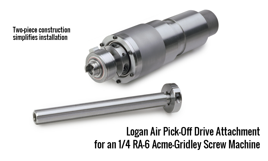Logan Air Pick-Off Drive Attachment for an 1/4 RA-6 Acme-Gridley Screw Machine