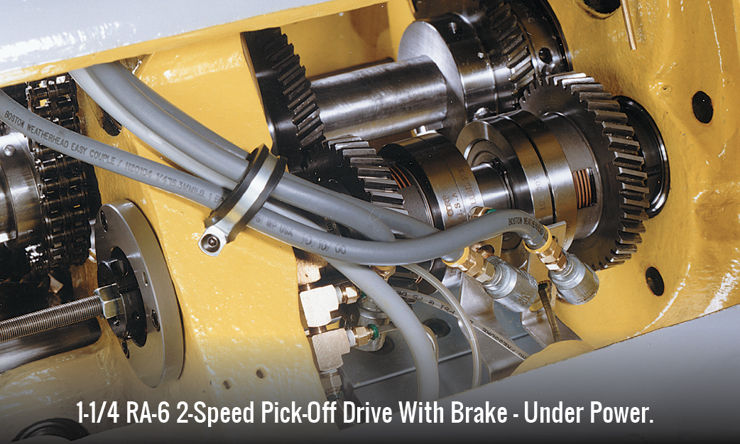 1-1/4 RA-6 2-Speed Pick-Off Drive With Brake - Under Power.