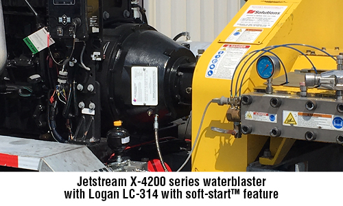 Jetstream X-4200 series  waterblaster with  Logan LC-314 with  soft-startTM feature