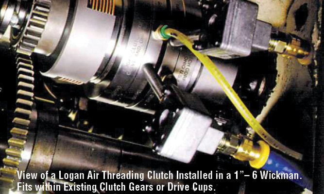 "View of a Logan Air Threading Clutch Installed in a 1""– 6 Wickman. Fits within Existing Clutch Gears or Drive Cups."